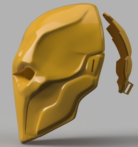 Deathstroke mask Arkham Origins with Back Piece 3D Print 154837