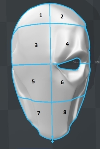 Deathstroke mask Arkham Origins with Back Piece 3D Print 154838