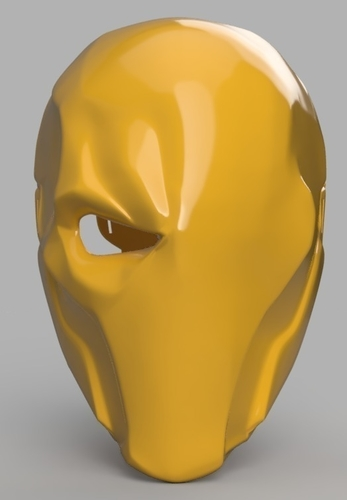 Deathstroke mask Arkham Origins with Back Piece 3D Print 154840