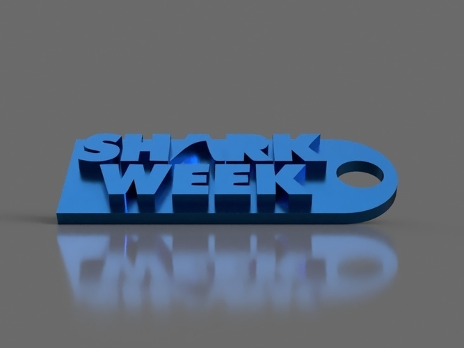 Shark Week Keychain 3D Print 154852