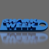 Small Shark Week Keychain 3D Printing 154852