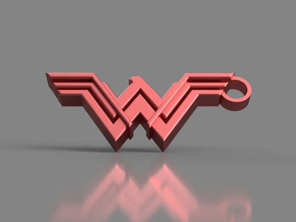 Medium Wonder Woman Keychain 3D Printing 154853