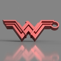 Small Wonder Woman Keychain 3D Printing 154853