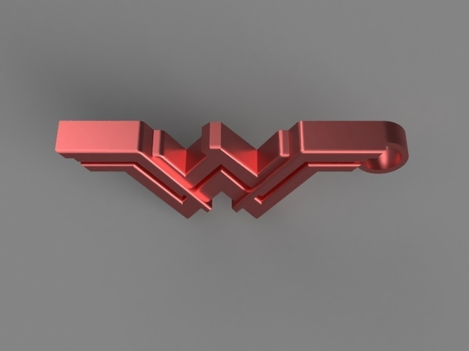 Wonder Woman Keychain 3D Print 154855