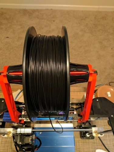 Alunar Prusa i3 (A8) - Frame-Mounted Spool Holder Add-On 3D Print 154872