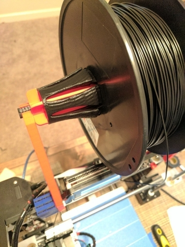 Alunar Prusa i3 (A8) - Frame-Mounted Spool Holder Add-On 3D Print 154874