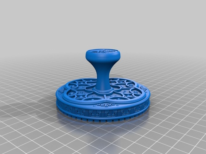 Year of The Snake Stamp 3D Print 15492