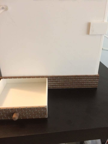 Miniature Wood stone & drawer  (bathroom) 3D Print 154942