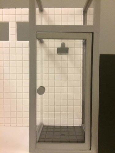 Miniature Shower Booth   (bathroom) 3D Print 154952