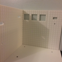 Small Miniature Bathroom wall & floor  (bathroom) 3D Printing 154954