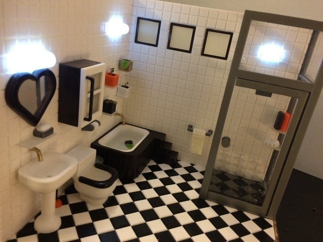 Miniature Bathroom wall & floor  (bathroom) 3D Print 154955