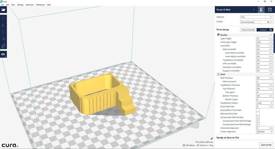 Miniature tub & tub  case (bathroom) 3D Print 154966