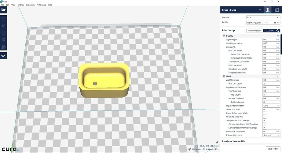 Miniature tub & tub  case (bathroom) 3D Print 154967