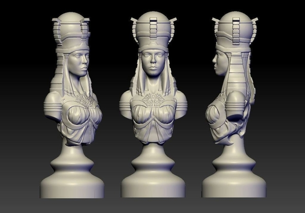 Medium Rook of Egypt 3D Printing 155043