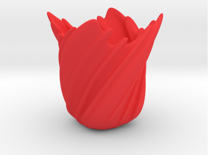 Twisted Rose Vase 3D Print 15516