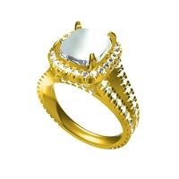 Small 3D CAD Model For Womens Wedding Ring 3D Printing 155270