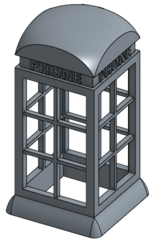 The Phone booth light 3D Print 155387