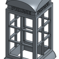 Small The Phone booth light 3D Printing 155387
