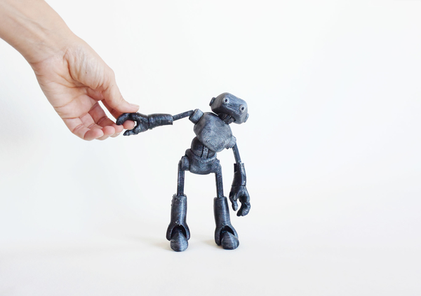 Medium Ankly Robot - 3d Printed Assembled 3D Printing 155450