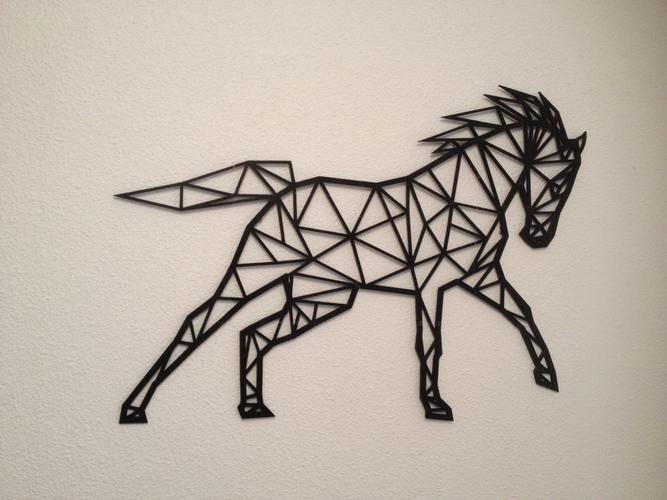 Horse line art wall-art 3D Print 155481 & 3D Printed Horse line art wall-art by Flowtero | Pinshape