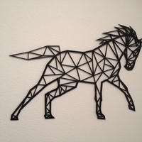 Small Horse line art wall-art 3D Printing 155481