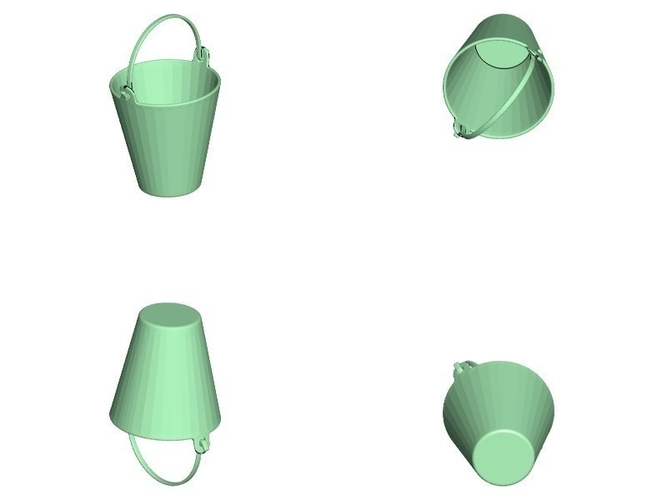 Scale Bucket Trashcan for Crawler Scaler Truck Cars 3D Print 155677
