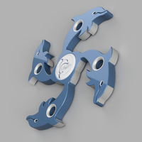 Small Dolphin Fidget Spinner 3D Printing 155715