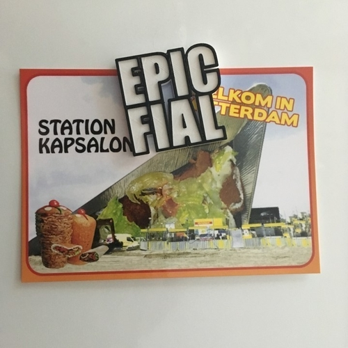 EPIC FAIL FIAL fridge magnet  3D Print 155809