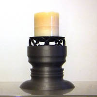 Small Pillar Candle Holder 3D Printing 155860