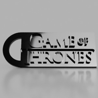 Small Game Of Thrones Keychain 3D Printing 155866