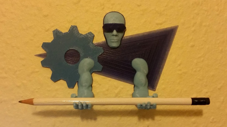 Wall-mounted Tool / Pen holder 3D Printing Guardian 3D Print 155872