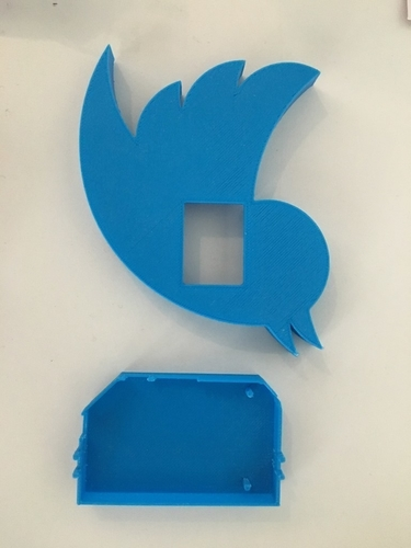 Onion Twitter Badge 3D Print 155886