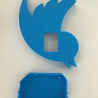 Small Onion Twitter Badge 3D Printing 155886