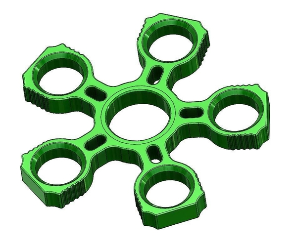 Fidget Quintuple Spinner / 625 Bearing Holder 3D Print 155958