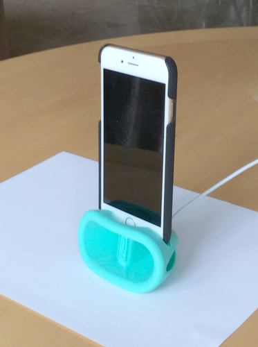 iPhone 6 and above  Passive Amplified Dock and Stand 3D Print 156091