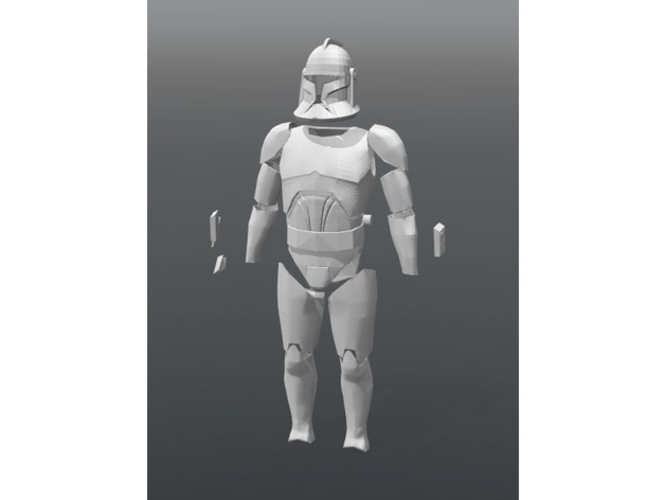 Clone Wars - Armor Phase 1 3D Print 156133