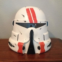 Small Star Wars: Clone Airborne Trooper Helmet 3D Printing 156135