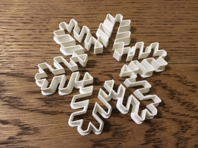 Customizable Snowflake Cookie Cutters 3D Print 156201