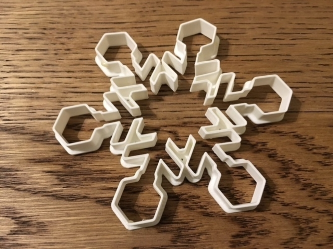 Customizable Snowflake Cookie Cutters 3D Print 156204