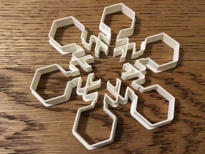 Customizable Snowflake Cookie Cutters 3D Print 156205