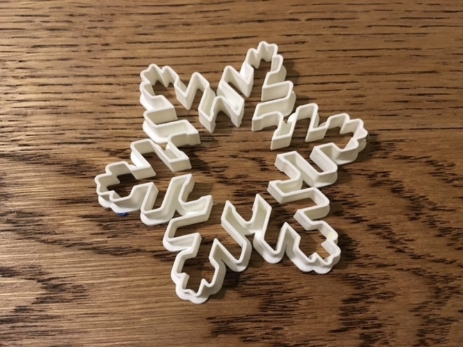 Customizable Snowflake Cookie Cutters 3D Print 156208