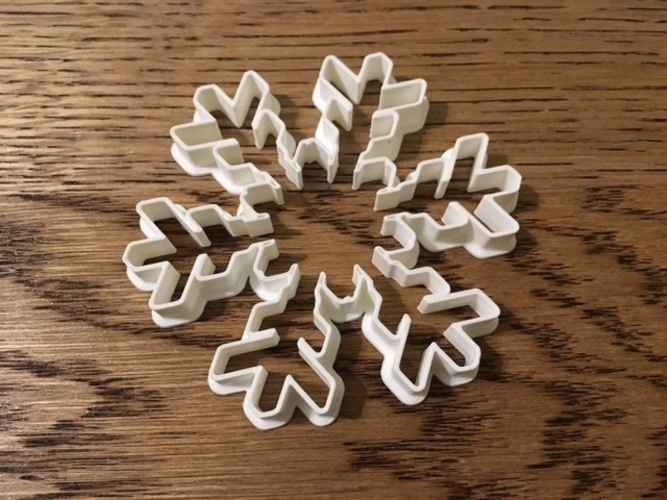 Customizable Snowflake Cookie Cutters 3D Print 156209