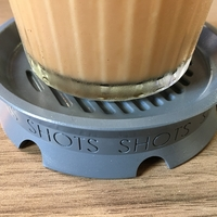 Small 🎉 🎉 🎉  SHOTS COASTER  🎉 🎉 🎉 3D Printing 156263