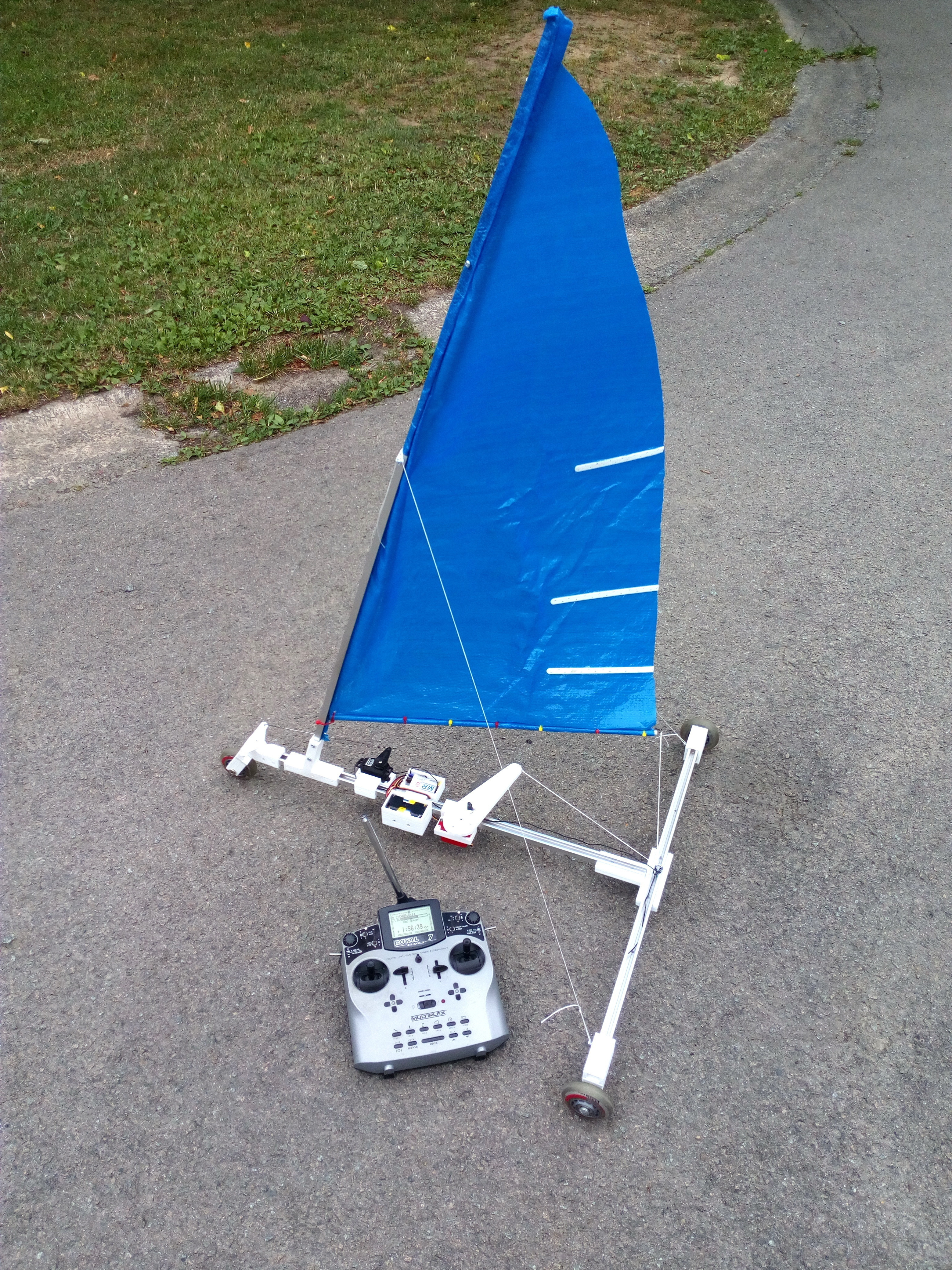 3d Printed Char A Voile Sand Yachting Land Yacht Sailing Rc By Macgyverbe Pinshape