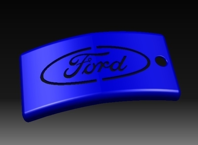 Ford Keychain 3D Print 156376