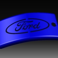 Small Ford Keychain 3D Printing 156377