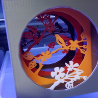 Small Shadow box with bird 3D Printing 156415