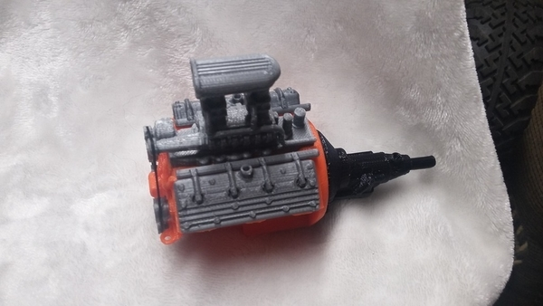 Medium remix of HotRod V8 twin carb blown nostalgic engine by macone1,  3D Printing 156426