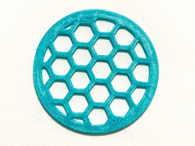 Hexagon Pattern Coaster 3D Print 156458
