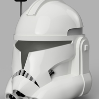 Small Captain Rex's Helmet Phase 2 (Star Wars) 3D Printing 156464